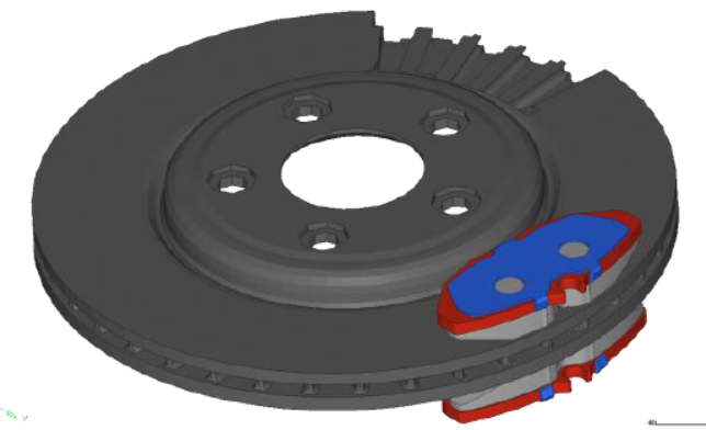 Brake Squeal Analysis is supported by two step process – Optistruct